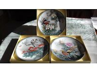 Chinese porcelain collectors plates