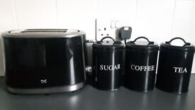 Toaster & canister set