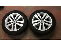 """2x 16"""" Vauxhall alloy wheels with winter tyres - fit Astra, Vectra, Corsa, Zafira etc"""