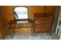 Dressing table and chest of drawers bedroom set