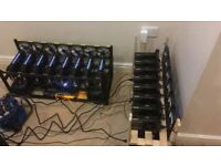 2 x GPU Crypto mining rigs 16 Cards - 8 X EVGA 1070 & 8 X 1060 Rigs 425mhs Bitcoin ETH IN STOCK