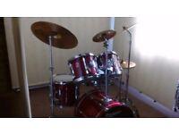 Retired drum teacher has a Premier 'XPK' 'Fusion' drum kit for sale.