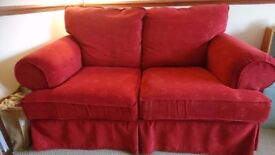 Two seater sofa and large armchair