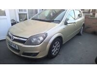 -SPARE OR REPAIR -2004 VAUXHALL ASTRA HATCHBACK 1.4 PETROL 5DR MANUAL