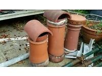 3 clay chimney caps