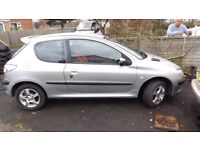 Peugeot 206 1.1 with 12 months mot