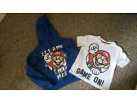 Hoodie and t-shirt 3-4yrs