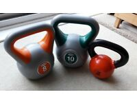 8KG, 10KG, 15LBS - 6.80KG WEIGHT KETTLEBELLS - Priced individually