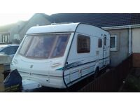 4 BERTH ABBEY VOUGUE GTS 2003 WITH 'L' SHAPED LOUNGE. MOTOR MOVER AWNING. ALL ACCESSORIES FOR HOLS.