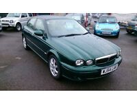 CLEAN 2004 (54) JAGUAR X TYPE 2.5 V6 WITH MOT TILL SEPT 2017 NO ADVISORYS B/R GREEN 99K S/H TO 91K +