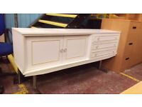 White modern sideboard with drawers