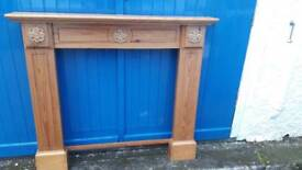 Antique Pine Ducal Fireplace Surround