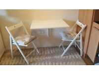 Wall Mounted Folding Table and Chairs