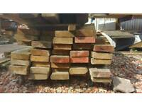 """Reclaimed Canadian redwood pine9.6""""x3 15ft"""