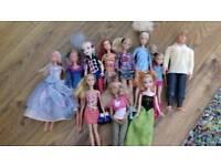 Barbie dolls, other dolls, pets, clothes
