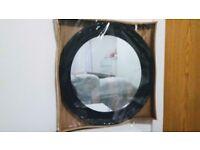 50cm Black Round Porthole Mirror Shabby Chic Style Wall Mirror Bathroom Acrylic Home Decor