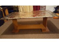 2 glass coffee table