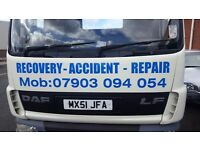 Car Recovery Breakdown Accident Transfer 24hr Service, Cars, Vans, Bikes, Forklifts, etc