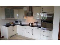 Cream High Gloss Kitchen with Granite Worktop *£1000 ono*