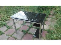 BARGAIN! Black glass Ikea computer table £75 RRP