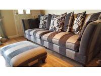 Reid's 3 Piece Suite, 3+ 2 Seater & Pouffe *£3800 New*
