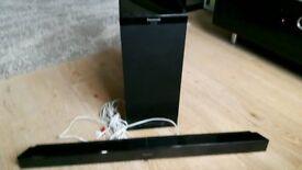 Panasonic Soundbar and sub woofer