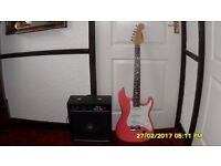 WESTWOOD ELECTRIC GUITAR AND AMP