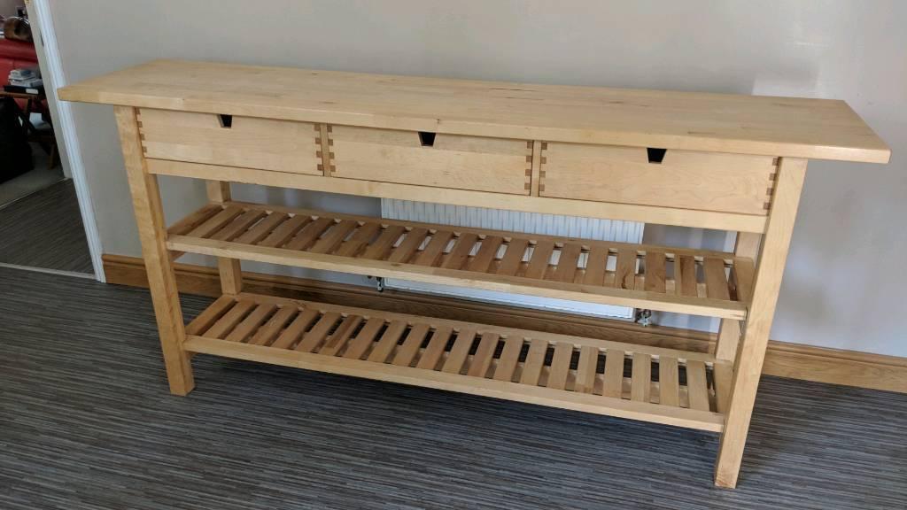 Ikea Forhoja 3 Drawer 2 Shelf Kitchen Island Table Worktop