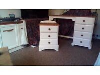dressing table & bedside chest