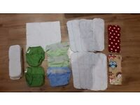 Washable nappy bundle- FLIP nappies by Bumgenius, birth to potty system (8lb-35lb)
