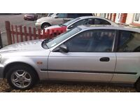 A reliable Honda Civic car 3 door automatic for sale.