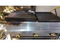 3 burner grill and griddle 2in1