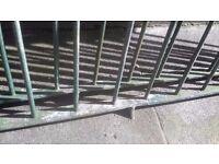 Bow Top galvanised railings