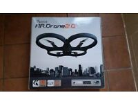 Parrot AR Drone 2.0 Drone with indor / outdoor hull / charger / battery / box
