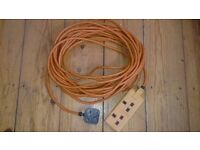 15m extension lead, orange full working order
