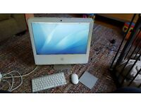 iMac 20inch intel core 2 duo (white) with Magic Trackpad and Wireless Keyboard