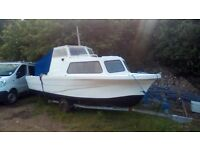 20ft boat 50hp mariner snipe trailer px swap