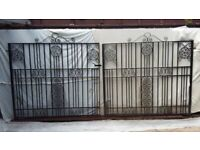 Wrought iron ornamental driveway gates (pair).