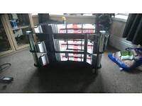 Black glasses TV stand