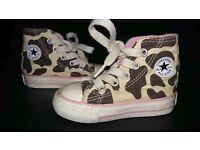Infant Girls Leopard Print Converse Size 3