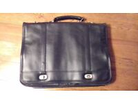 Black soft briefcase workbag