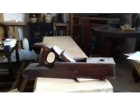 Antique wooden block plane