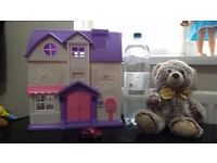 Dolls house and bear