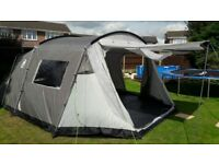 Coleman Lakeside Six Berth Tent, with groundsheet.