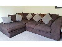 Sofa Brown Cosy Virtually Brand New