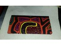 Colourful patterned purse