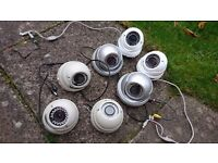 7x Metal Body Dome Security CCTV Cameras IR SD HD Sony CCD
