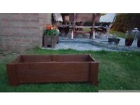 Wooden planter one meter long