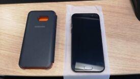 Samsung Galaxy A3 2017 - Black - 16GB - Unlocked - Samsung Case - 64GB SD Card - Genuine Charger