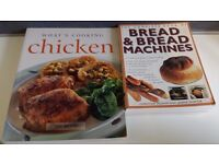Cookery recipe books for Chicken and Bread and Bread makers/Bread Machines